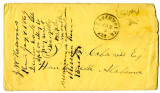 Envelope addressed to S. D. Cabaniss from Leavenworth, Kansas