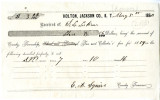 Tax receipt to D. L. Lakin from Holton, Jackson County, Kansas Territory, May 3, 1860