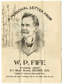 A personal letter from W. P. Fife