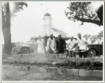 Photograph of barbeque at Mount Vernon prior to Cheney Lake dedication